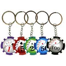 Poker Chip Keychains