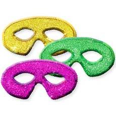 Mardi Gras Sequin Masks