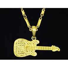 Gold Guitar Bling