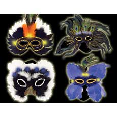 Light Up Feather Masks