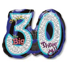 Big 30 Birthday Balloon