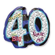 Big 40 Birthday Balloon