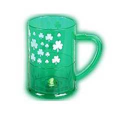 LED Shamrock Mug