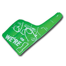 Green Inflatable hand