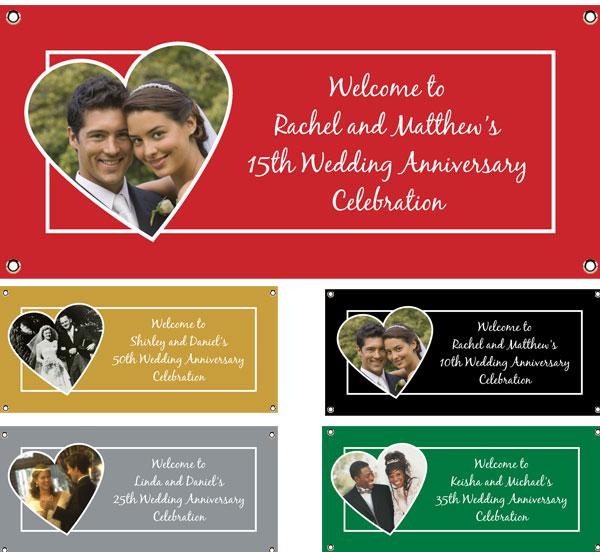 Anniversary Heart Photo Theme Banner