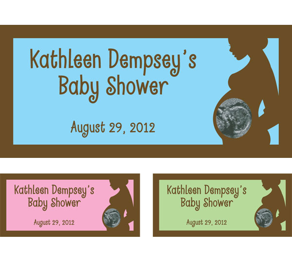 Baby Photo Ultrasound Shower Theme Banner