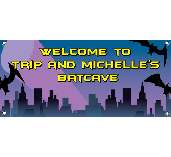 Batman Theme Party Banner