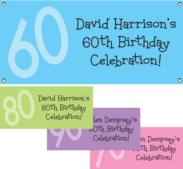 Birthday Age Theme Banner