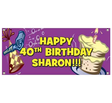 Birthday Horn Banner