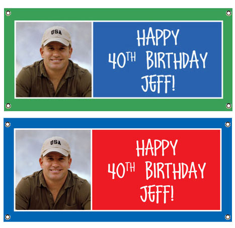 Birthday Age Block Photo Theme Banner