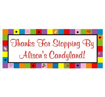 Candyland Theme Banner