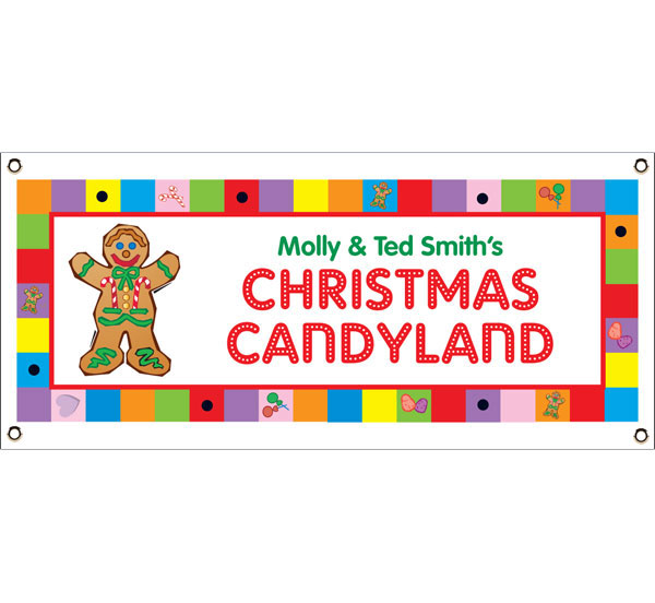 Christmas Candyland Theme Banner