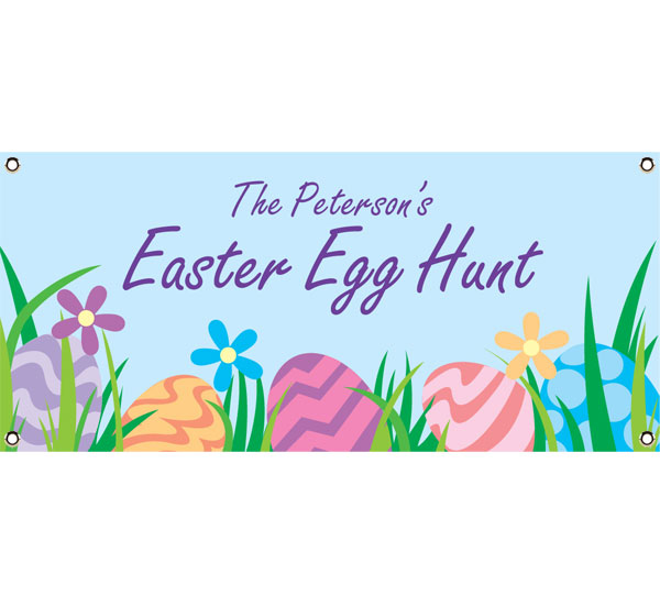 Easter Eggs Spring Theme Party Banner