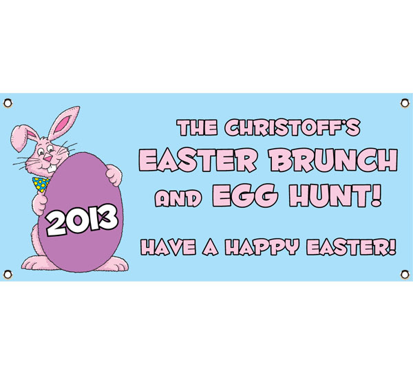 Easter Bunny Theme Party Banner