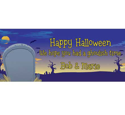 Halloween Graveyard Theme Banner