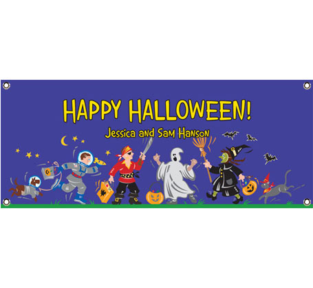 Halloween Kids Trick-or-Treat Theme Banner