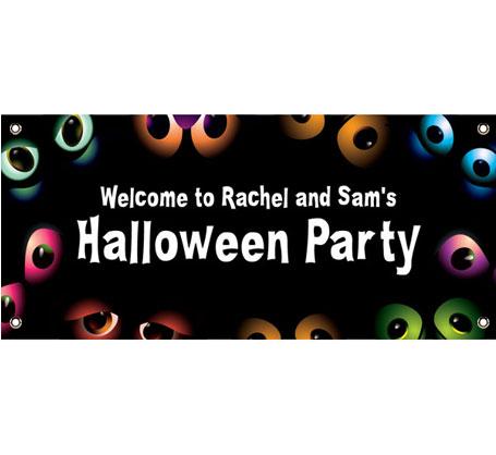 Halloween Eyes Theme Banner