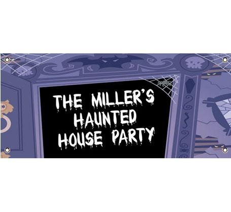 Halloween Haunted House Theme Banner