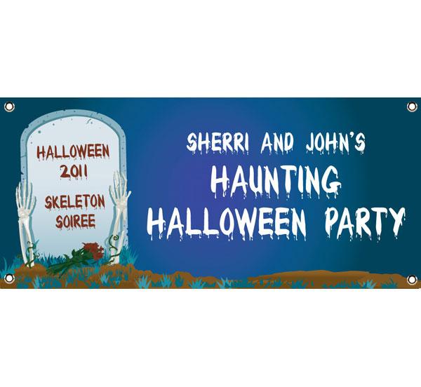 Halloween Grave Theme Banner
