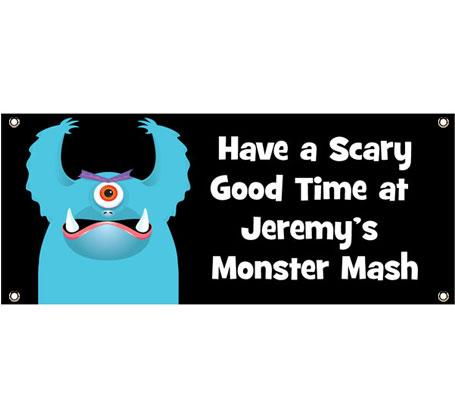 Halloween Monsters Theme Banner