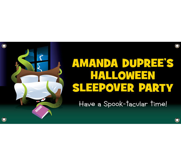 Halloween Sleepover Theme Banner