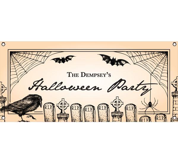 Halloween Vintage Theme Banner
