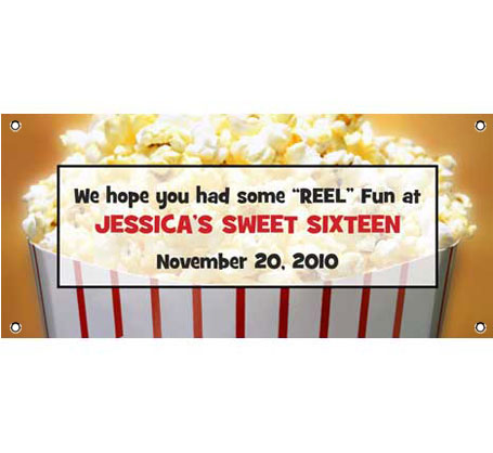 Hollywood Popcorn Theme Banner