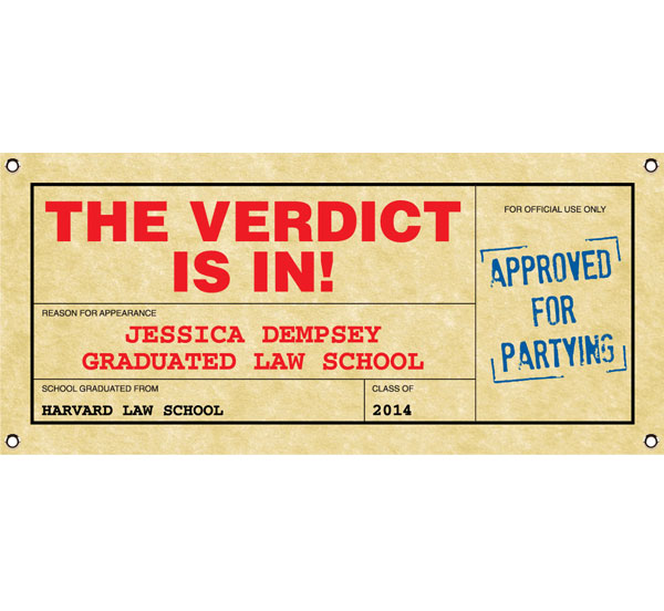 Graduation Law School Subpoena Theme Banner
