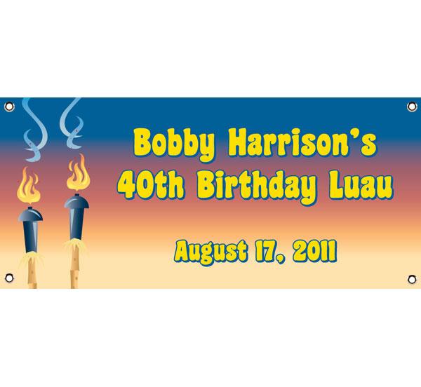 Luau Tiki Theme Banner