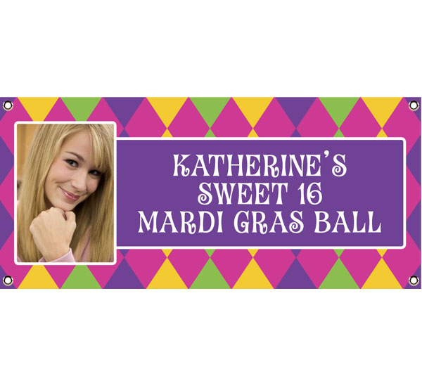 Mardi Gras Party Theme Banner