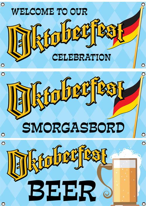 Oktoberfest Party Theme Banner Set