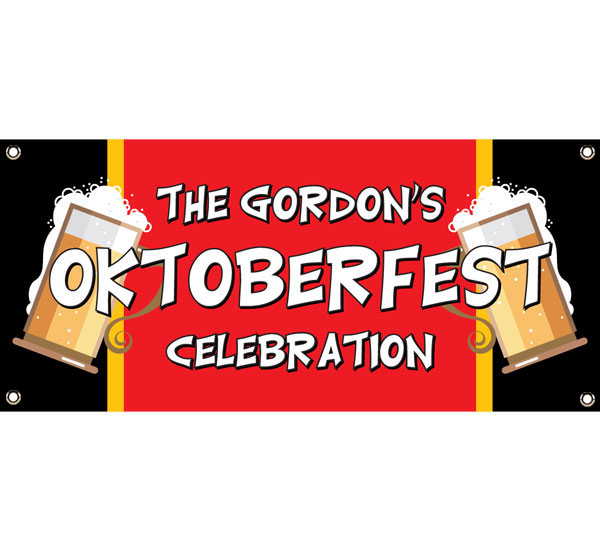 Oktoberfest Flag Theme Banner
