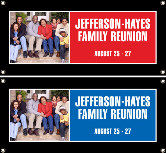 A Family Reunion Celebration Banner