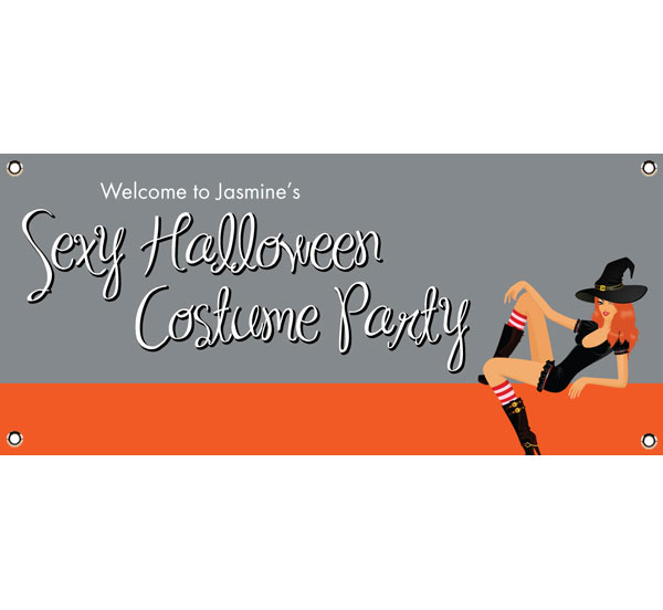 Halloween Sexy Party Theme Banner