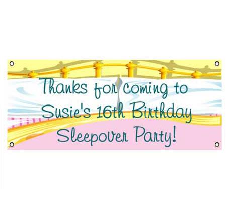 Sleepover Theme Banner