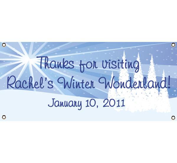 Winter Wonderland Theme Banner