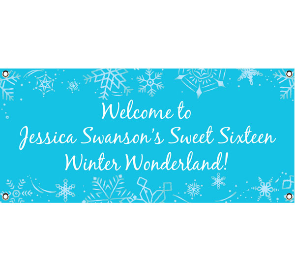 Snow Theme Party Banner