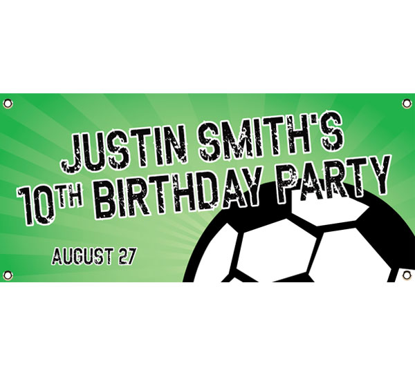 Soccer Ball Party Theme Banner