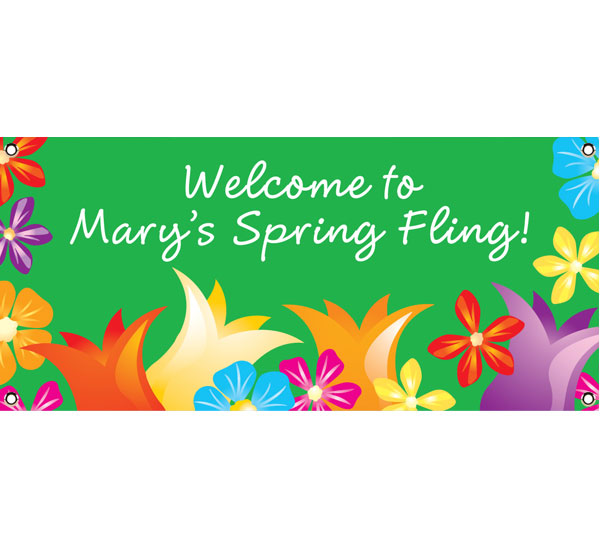 Bright Spring Flowers Theme Banner