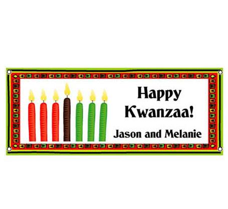 Kwanzaa Kinara Theme Banner
