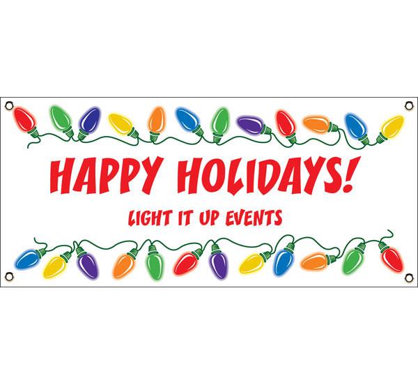 Christmas Lights Theme Banner