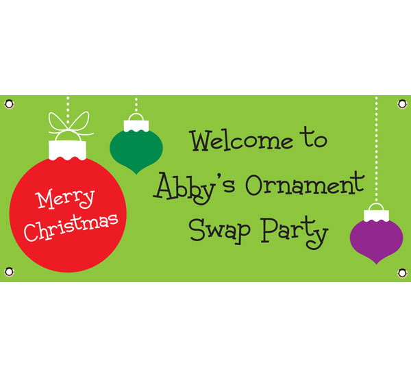 Christmas Ornaments Theme Banner