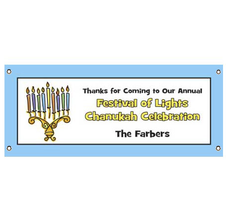 Chanukah Menorah Theme Banner