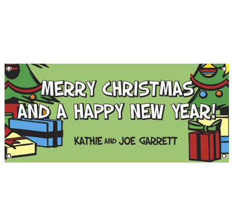 Christmas Tree Theme Banner