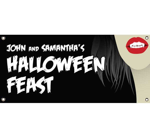 Halloween Vampire Theme Banner