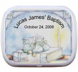 Baby Boy Baptism Mint Tin