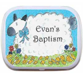 Boy Theme Baptism Mint Tin, Sheep