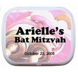 Bat Mitzvah Torah Scrolls Mint Tin