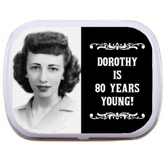 A Vintage Birthday Milestone Photo Mint Tin