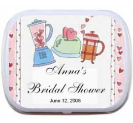 Mint Tin, Bridal Shower Kitchen Theme